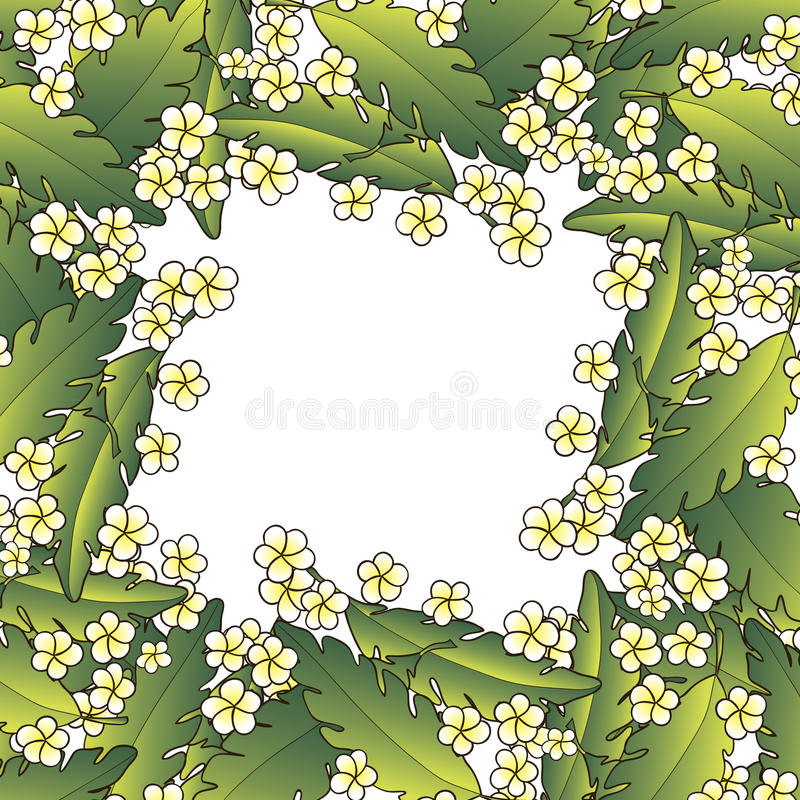 Download Background With Palm And Flowers Stock Vector - Illustration: 29827262