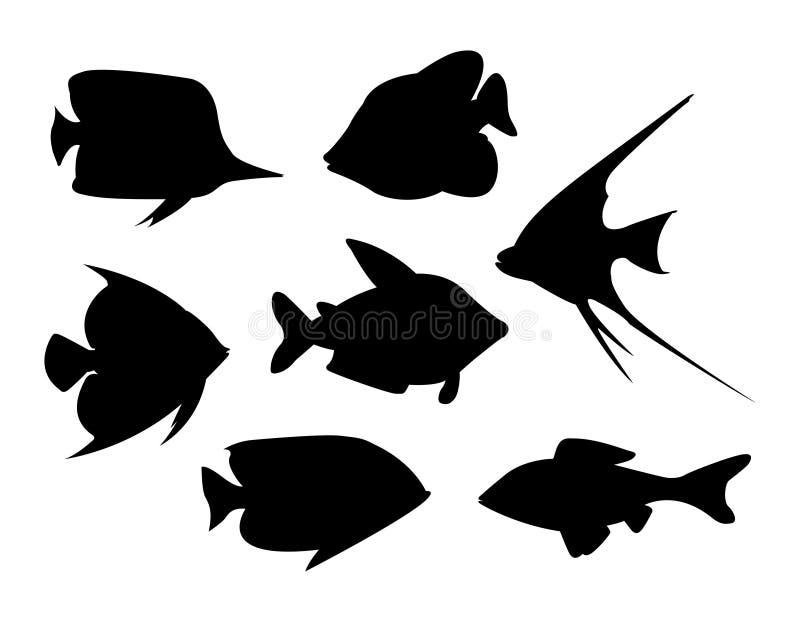 Vector tropical de los pescados