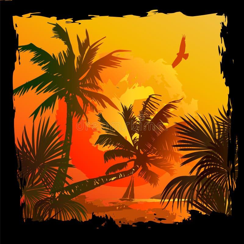Vector tropical del fondo stock de ilustración