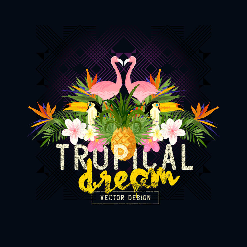 Vector tropical del verano libre illustration