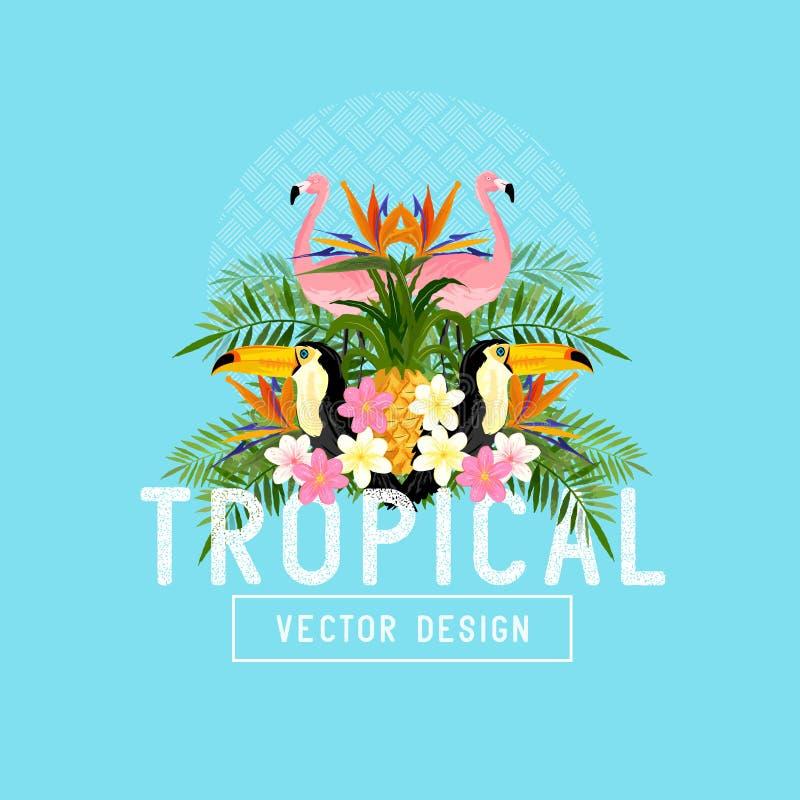 Vector tropical del verano ilustración del vector