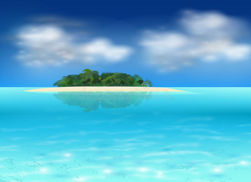 Vector Tropical Island Royalty Free Stock Images