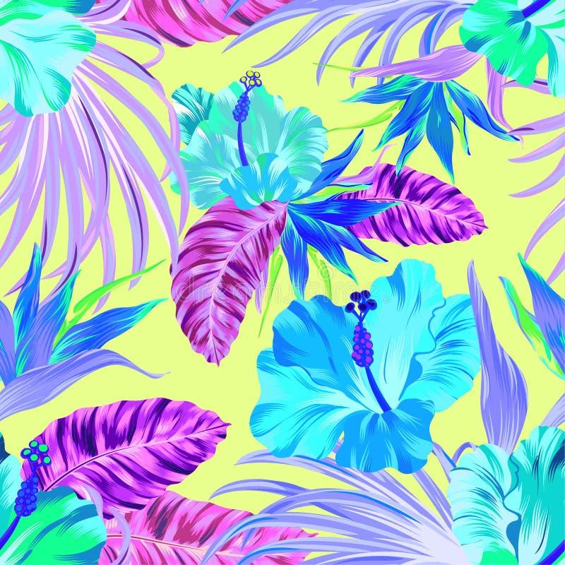 Vector tropisch patroon vector illustratie