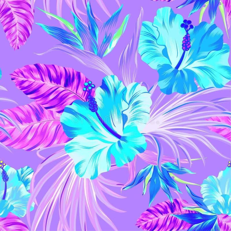 Vector tropisch patroon stock illustratie