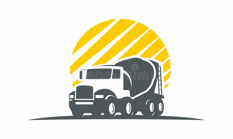 Truck car transportation logo logistics stock illustration