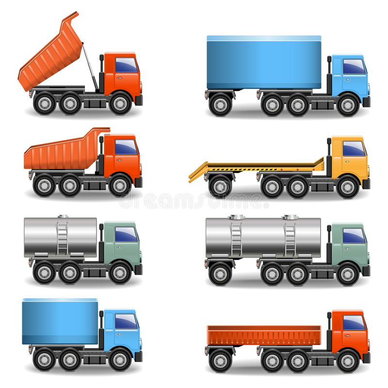 Vector truck icons royalty free illustration