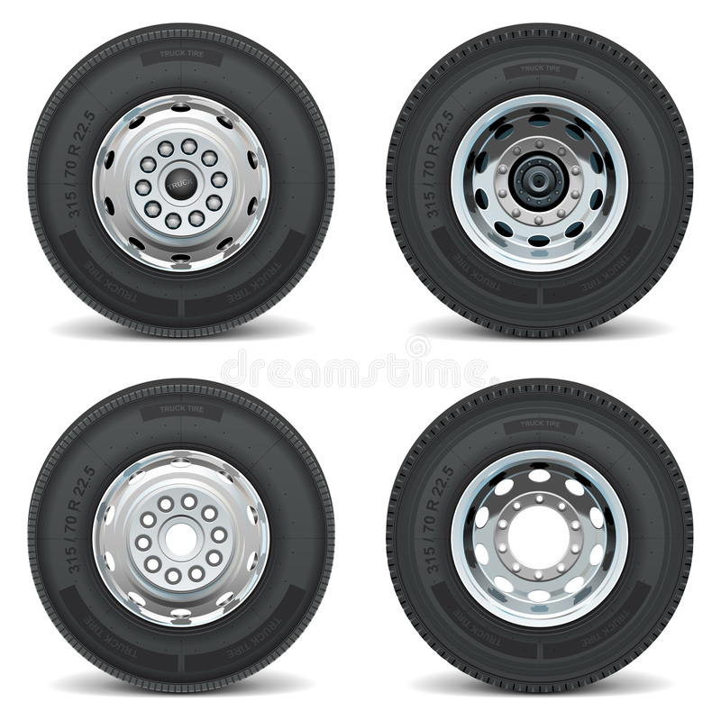 Vector truck tire icons royalty free illustration