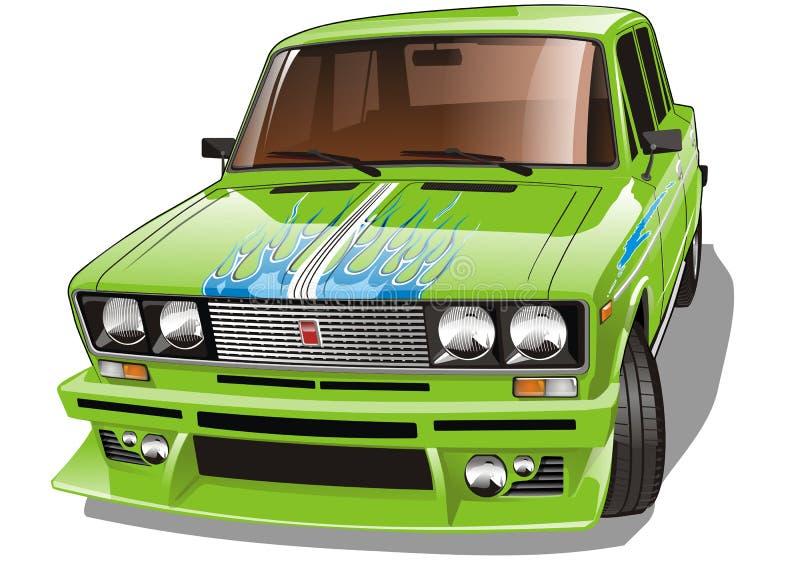 Vector Tuned Car Stock Photography