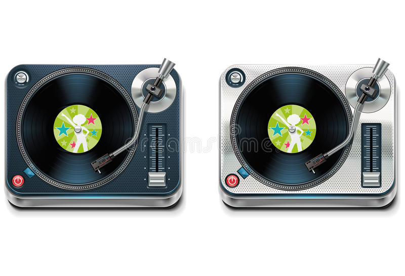 Vector turntable XXL icon royalty free illustration