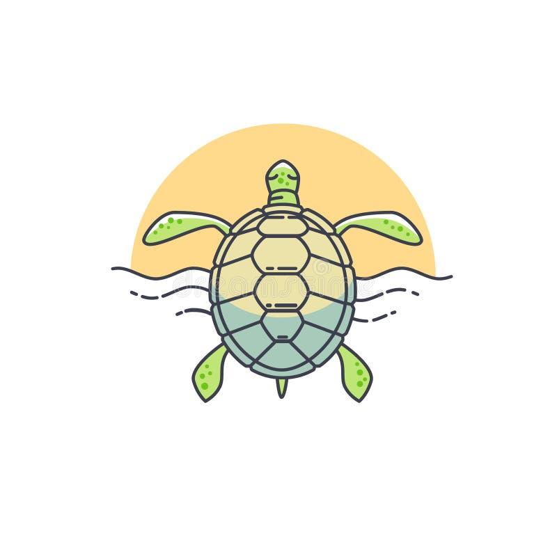 Vector turtle icon. royalty free illustration