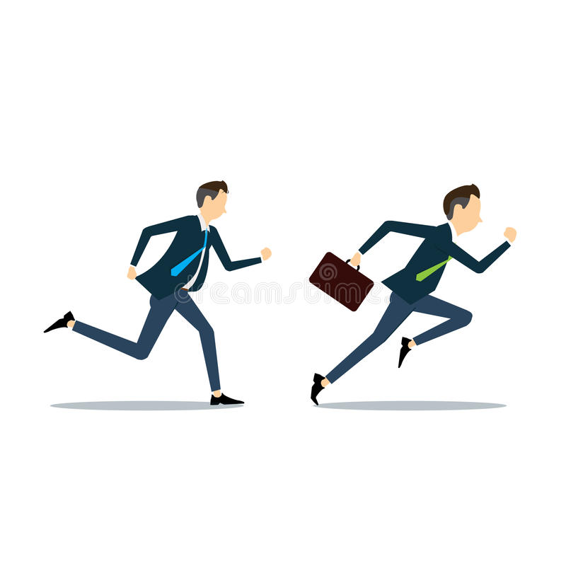 Vector two business man competitive business. Vector business man competitive with business vector illustration