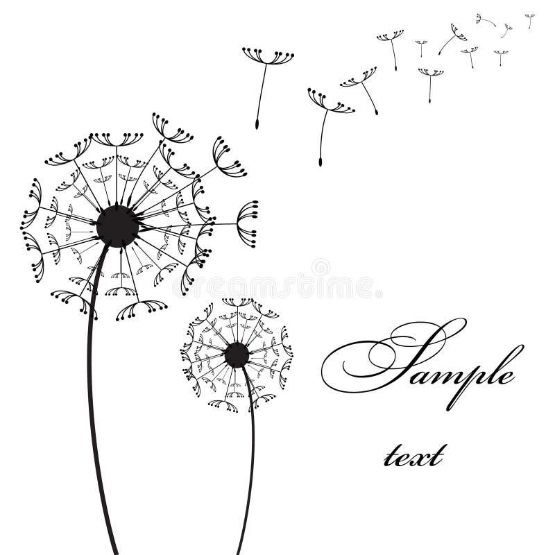 Vector two dandelion stock illustration