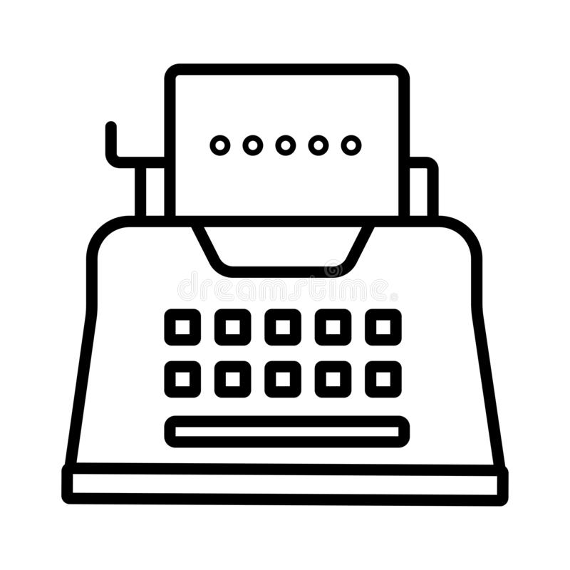 Vector typewriter icon stock illustration