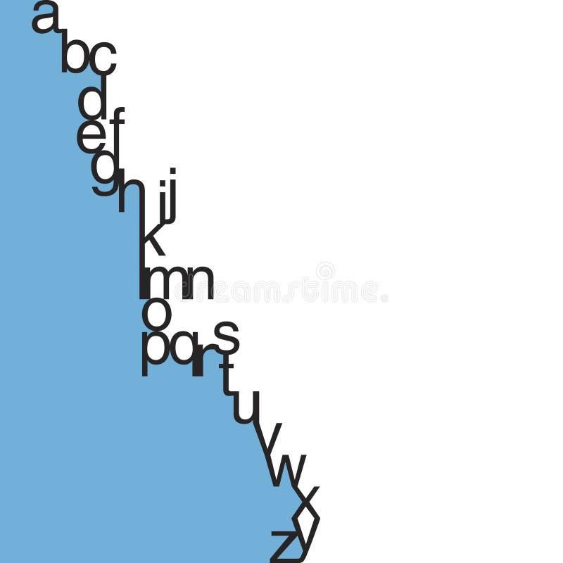 Vector Typografie In kleine letters royalty-vrije illustratie