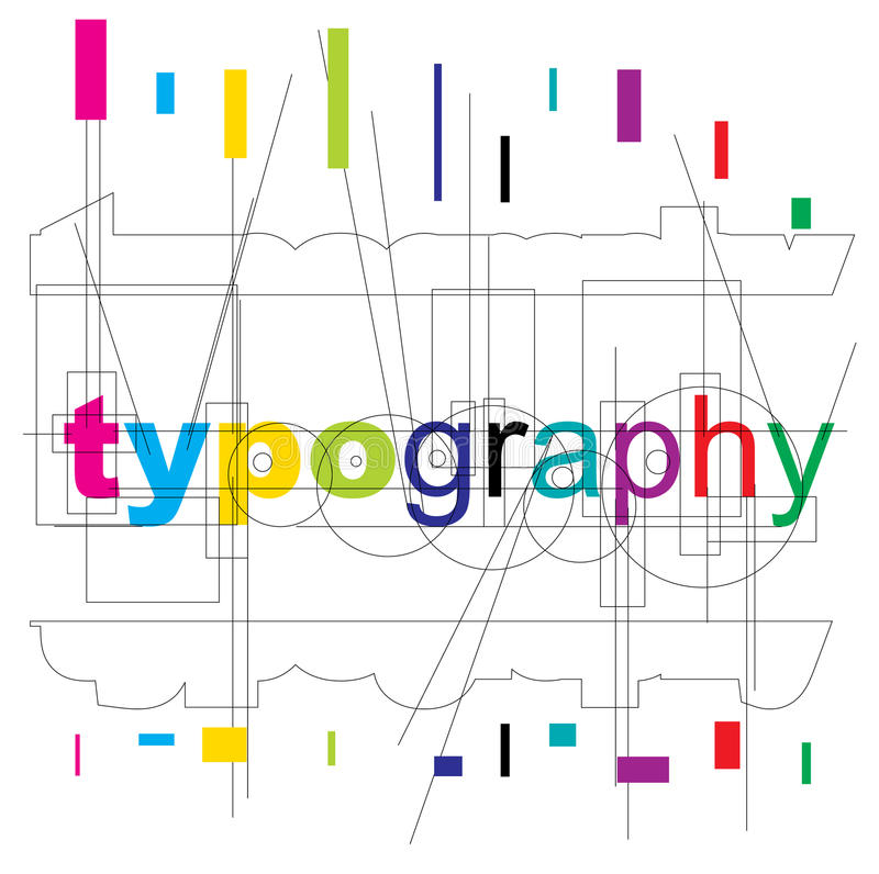 Vector Typography Type Royalty Free Stock Photos