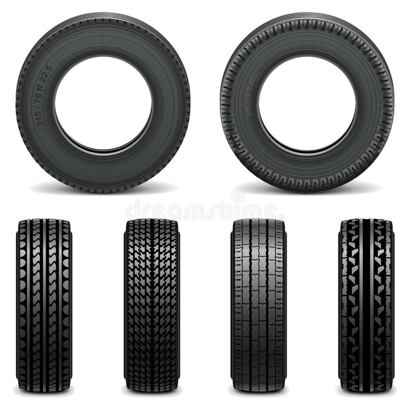 Vector Tyre Icons. On white background vector illustration