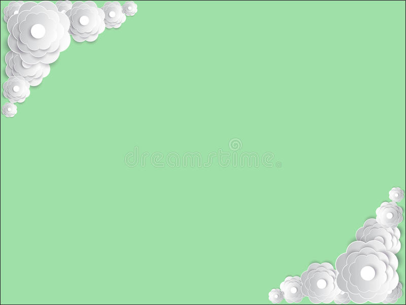 Vector uitnodigingskaart met bloemenelement stock afbeelding