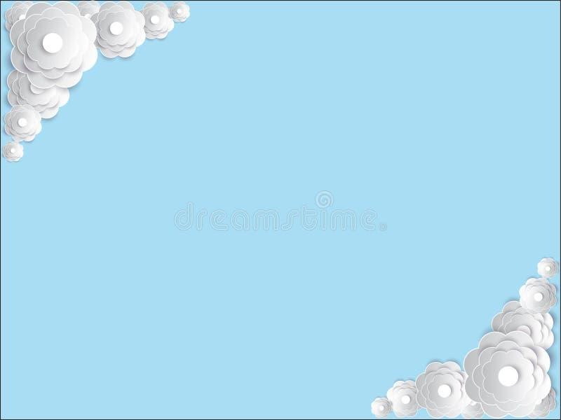 Vector uitnodigingskaart met bloemenelement stock foto