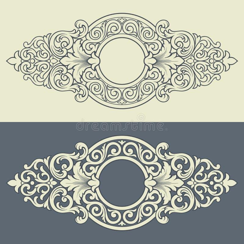 Vector uitstekend decoratief frame patroonontwerp
