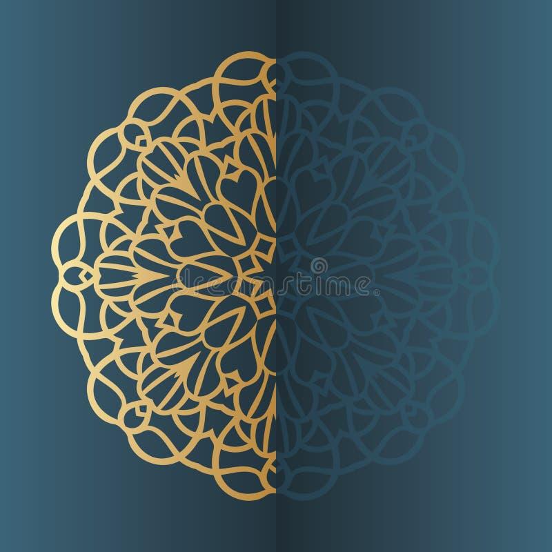 Vector uitstekend Mandala-tekenkader Uitstekende decoratieve elementen Oosters patroon royalty-vrije illustratie