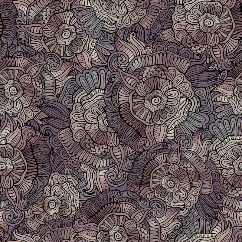 Vector uitstekend naadloos abstract bloemenpatroon vector illustratie
