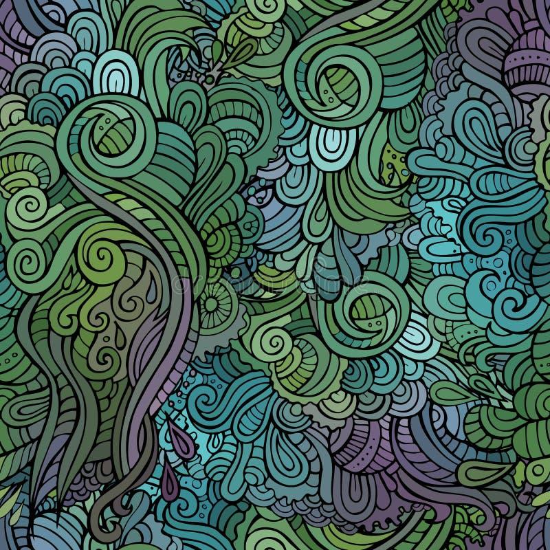 Vector uitstekend naadloos abstract bloemenpatroon royalty-vrije illustratie