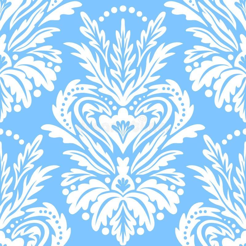 Vector uitstekend victorian patroon met damastmotief stock illustratie