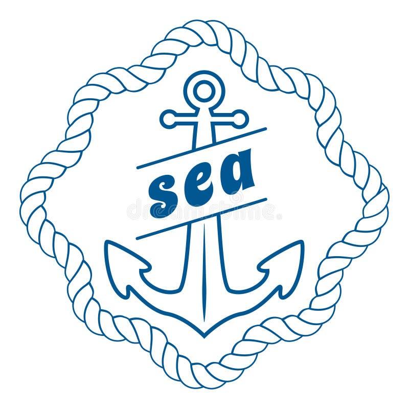 Vector uitstekend zeevaartetiket, pictogram en ontwerpelement royalty-vrije illustratie