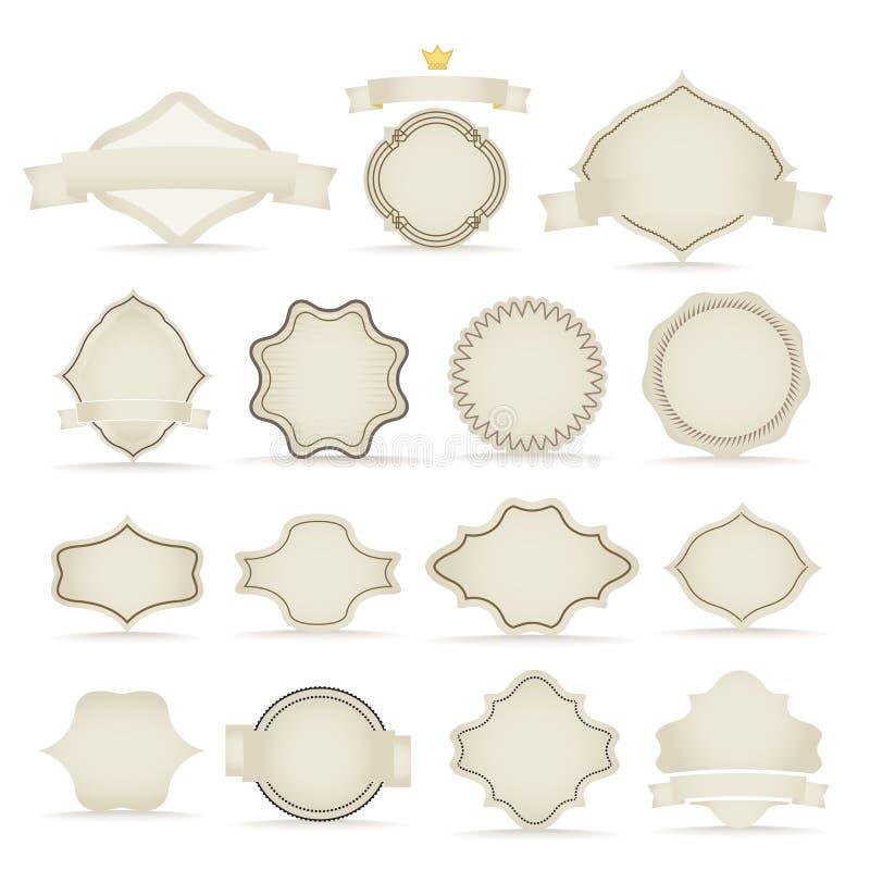 Vector uitstekende etiketten royalty-vrije illustratie