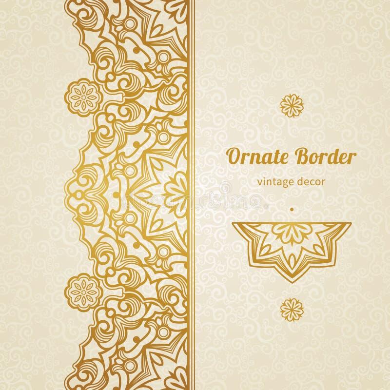 Vector uitstekende grens in Oostelijke stijl royalty-vrije illustratie