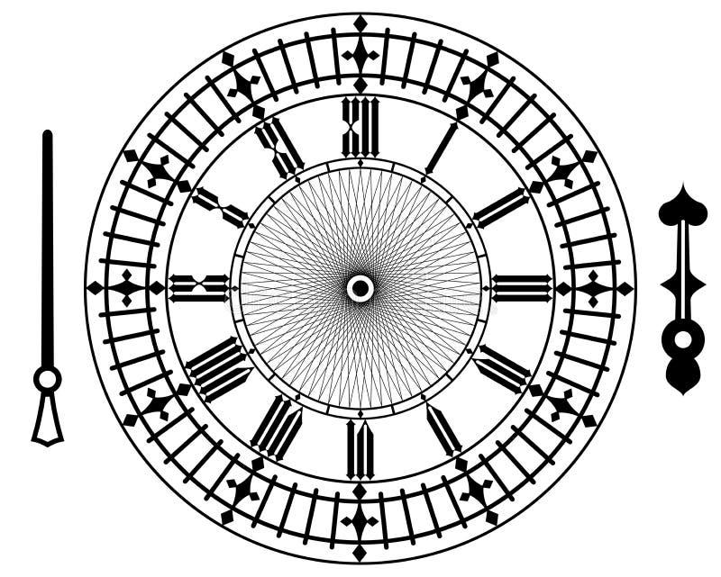 Vector uitstekende klok stock illustratie