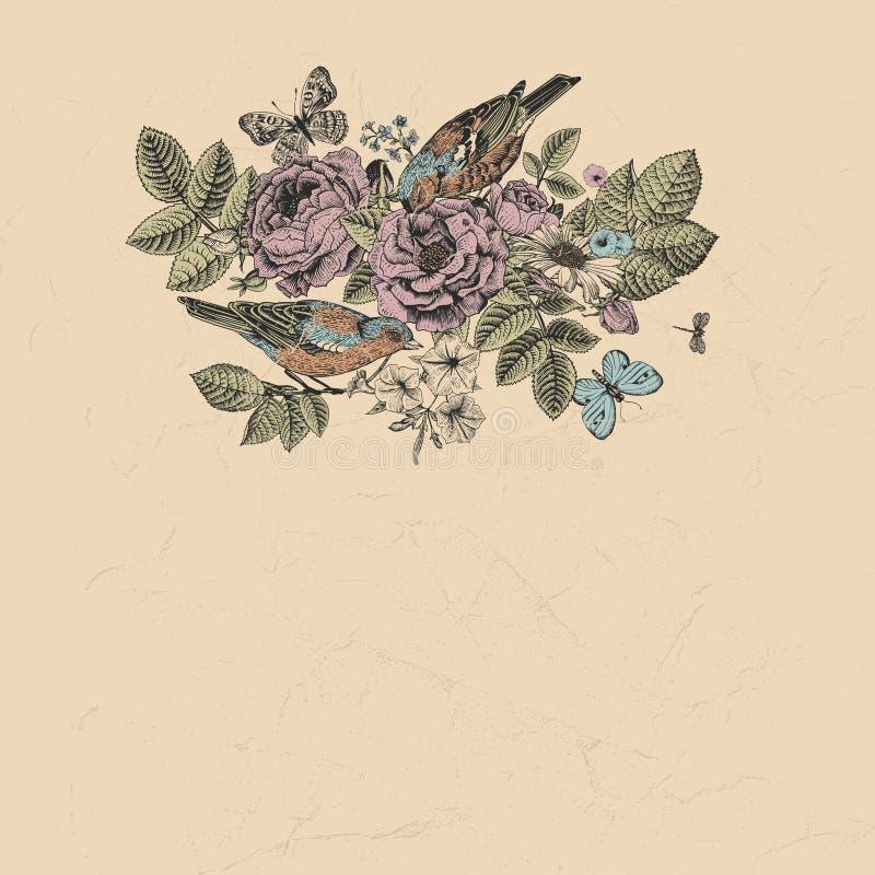 Download Vector Uitstekende Luxekaart In Victoriaanse Stijl. Stock Illustratie - Illustratie bestaande uit bloesem, achtergrond: 39110325