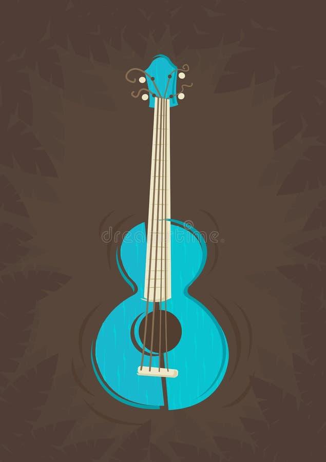 Vector ukulele guitar vector illustration