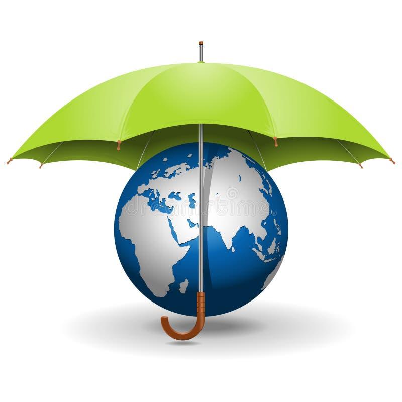 Free Vector Umbrella And Globe Stock Photos - 35478163