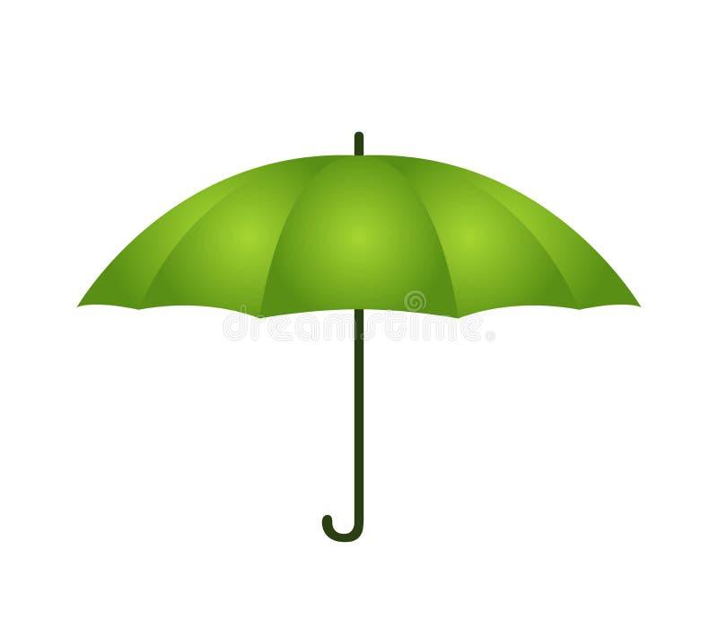Vector umbrella in cartoon style. Opened parasol stock illustration