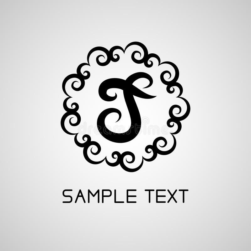 Vector un logo della lettera nera o un'etichetta, icona per la società Uso per l'identità, annuncio, alfabeto immagine stock