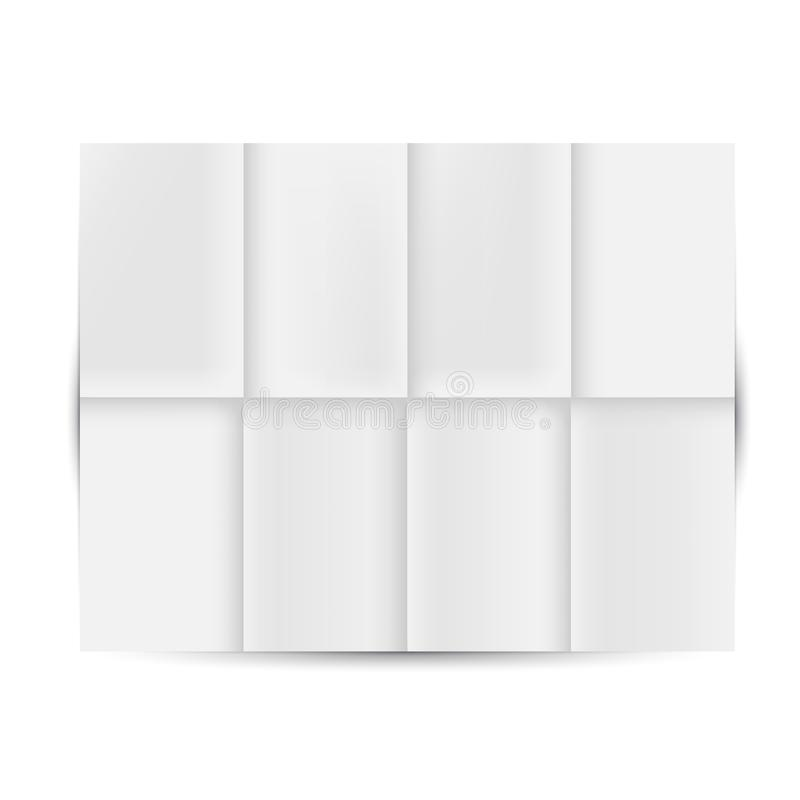 Unfolded White Paper. Vector Unfolded White Paper Mockup stock illustration