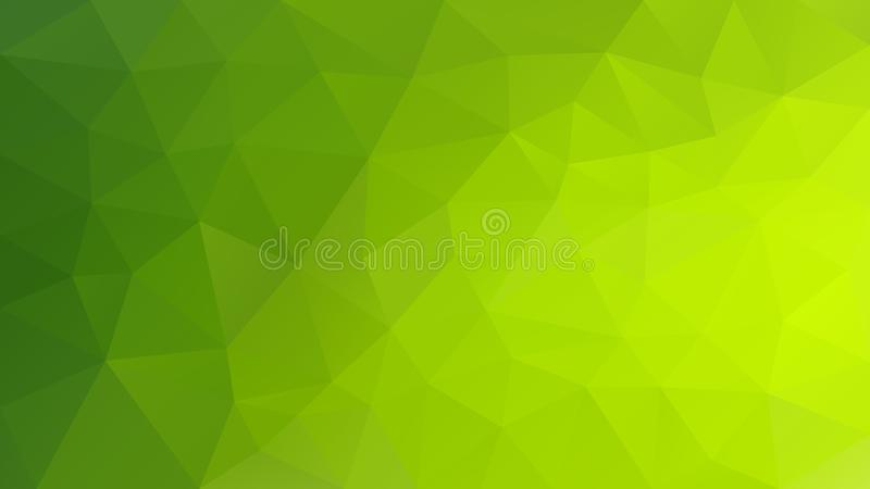 Vector unregelmäßigen polygonalen Hintergrund - Dreieckniedriges Polymuster - grüne Farbe des vibrierenden Höhepunktes lizenzfreie abbildung