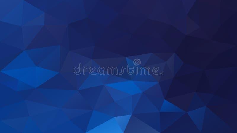 Vector unregelmäßigen polygonalen Hintergrund - Dreieckniedriges Polymuster - mittlere Saphirblaufarbe lizenzfreie abbildung