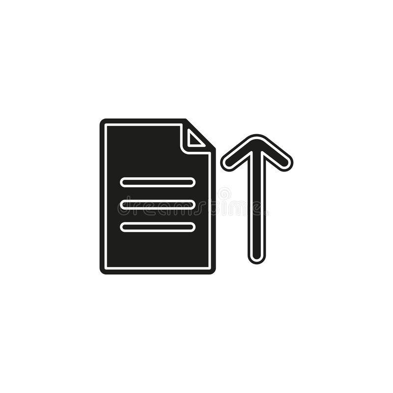 Vector Upload file icon - file document symbol - illustration vector illustration