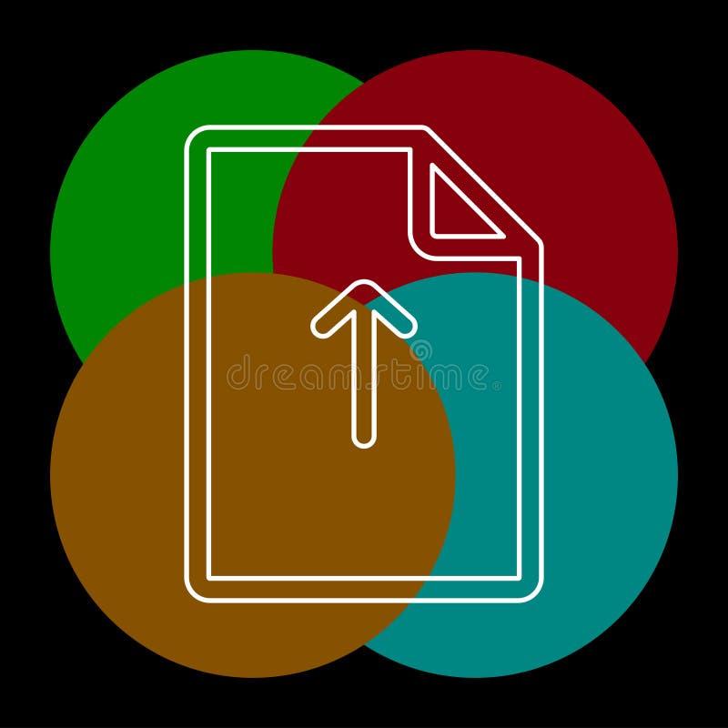 Vector Upload file icon - file document symbol royalty free illustration