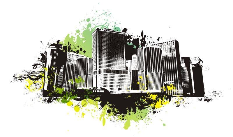 Vector urban scene stock illustration