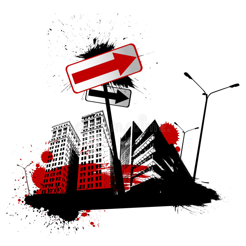 Vector urbano de la ciudad ilustración del vector