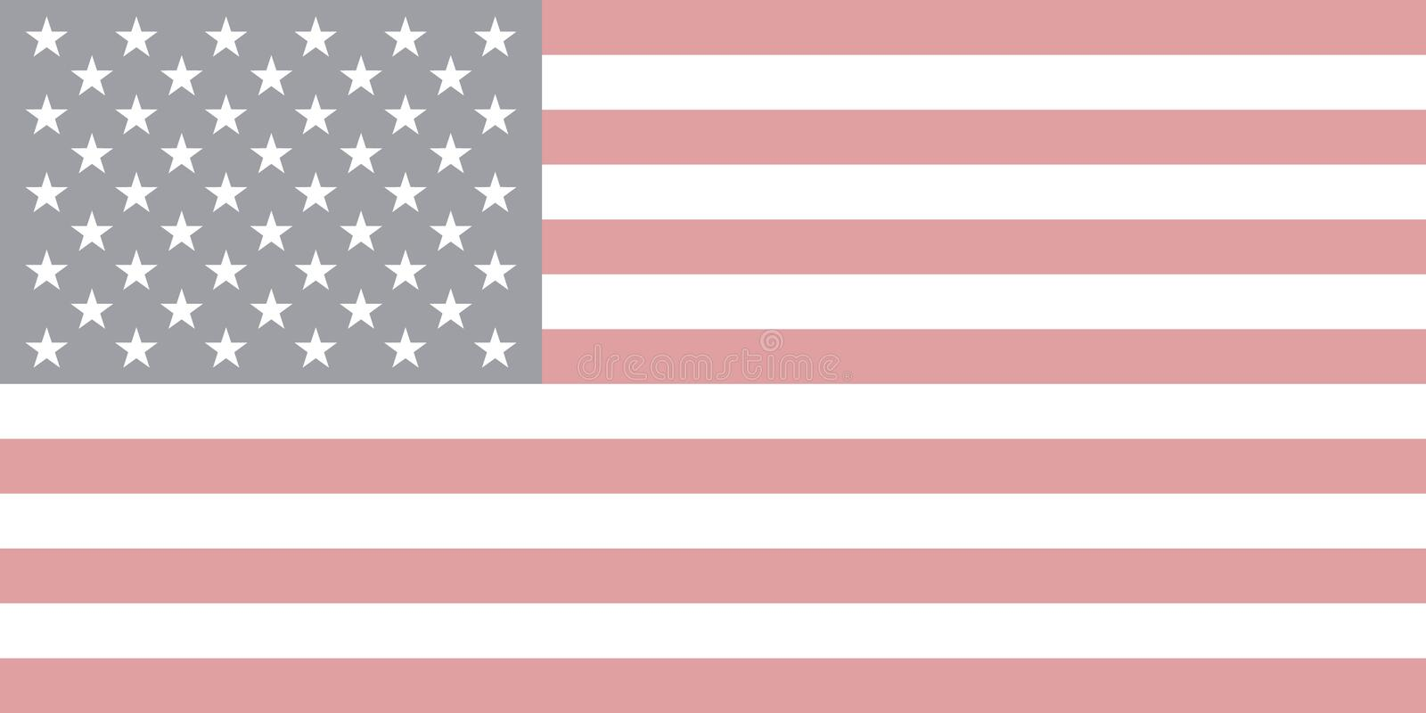 Vector of USA flag in faded style royalty free illustration