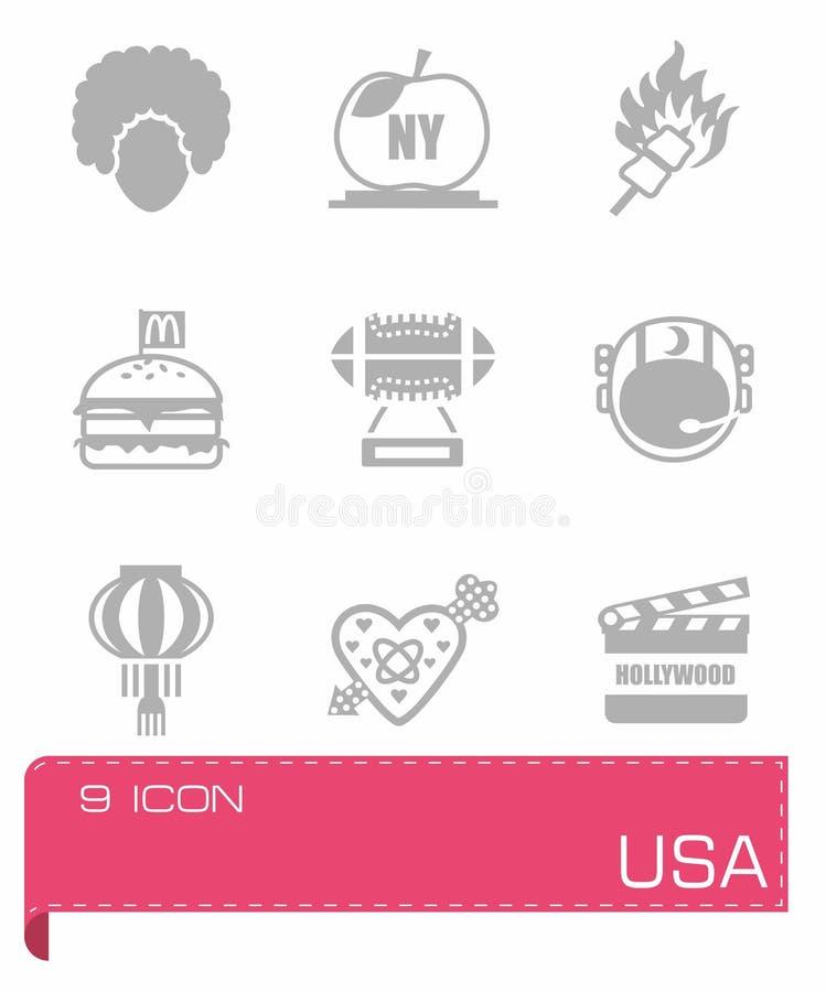 Vector USA icon set vector illustration
