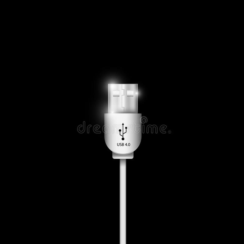 USB connector cable royalty free illustration