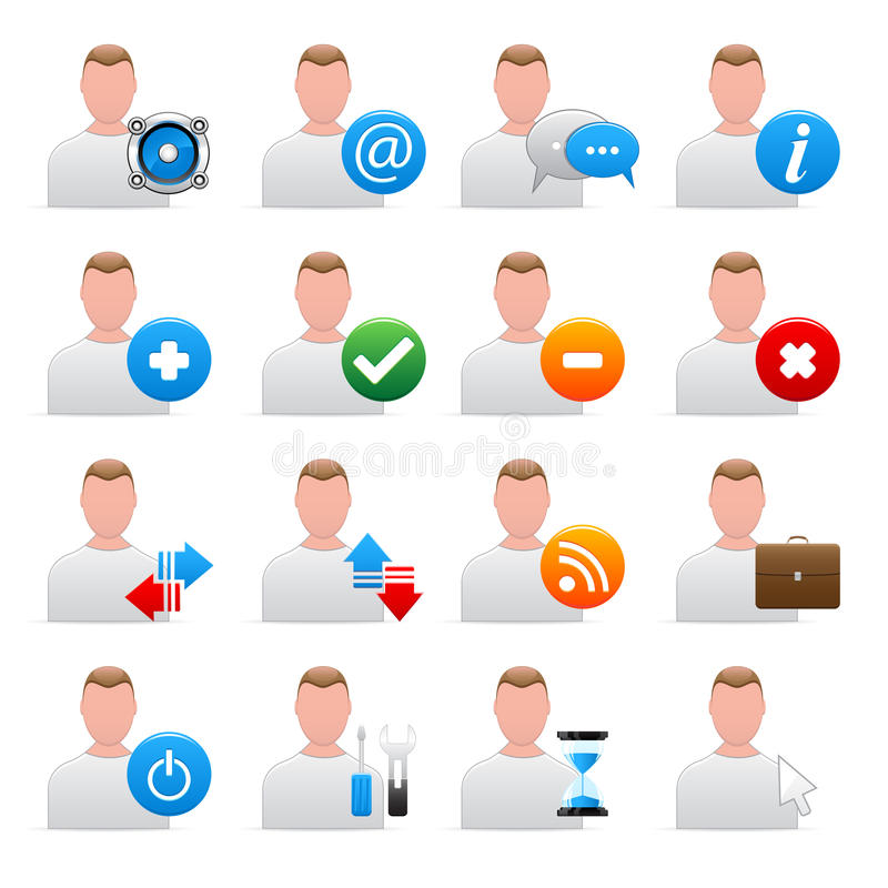 Download Vector user icons stock vector. Image of profession, brown - 13212615