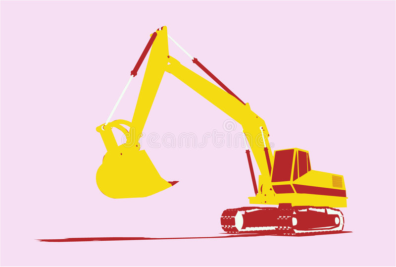 Vector utility vehicle front royalty free illustration