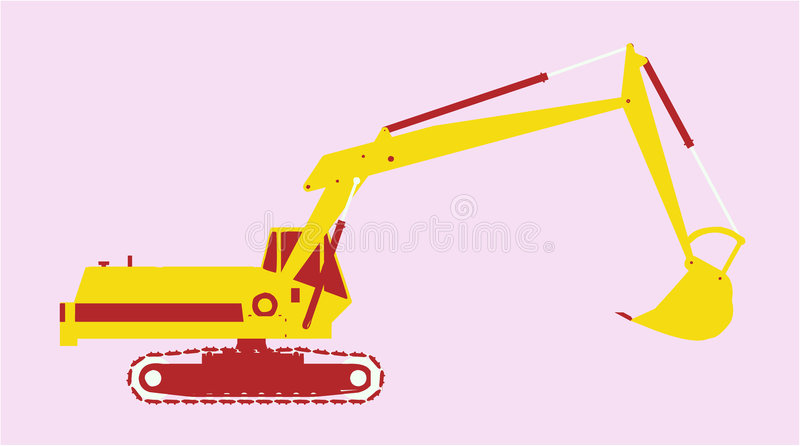 Vector utility vehicle side. Isolated vector utility vehicle with shadow vector illustration