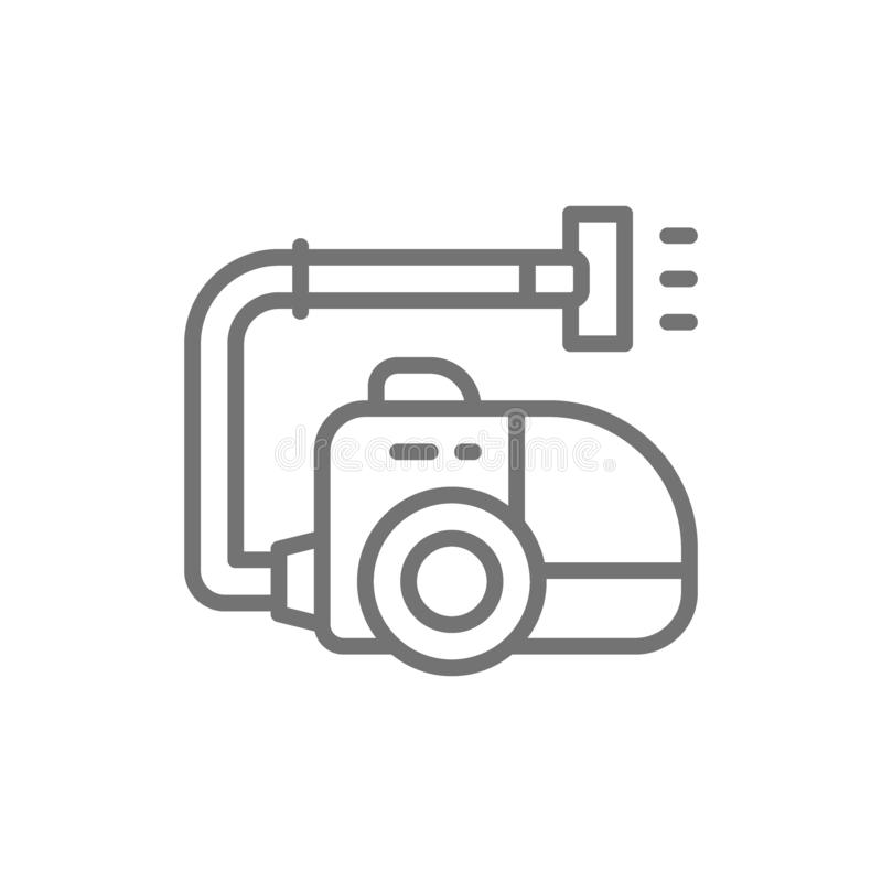 Vector vacuum cleaner, hoover, cleaning line icon. Symbol and sign illustration design. Isolated on white background royalty free illustration